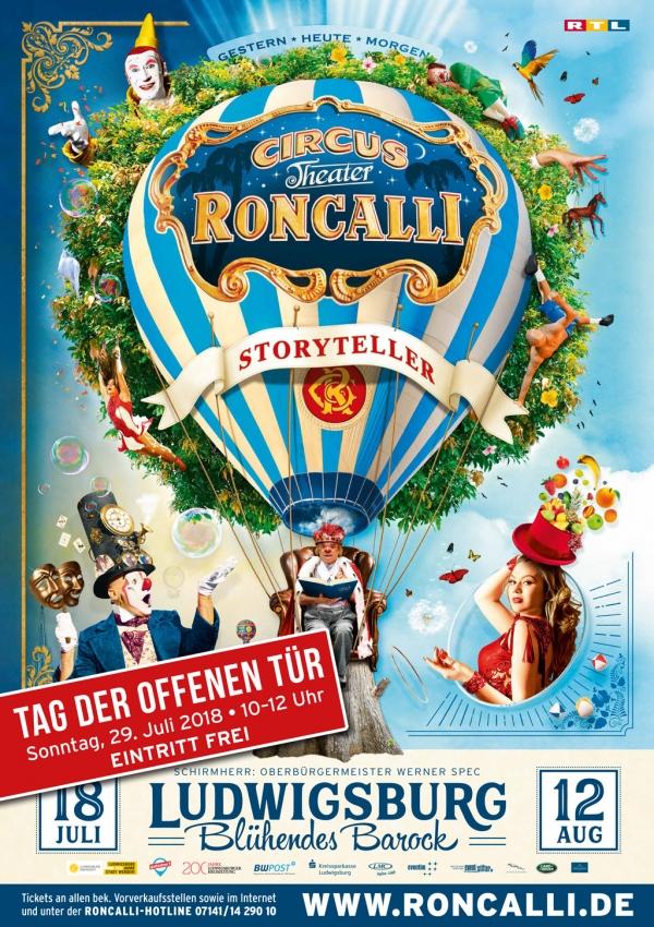 Tag Der Offenen Tür In Ludwigsburg Aktuelles Vom Circus Roncalli