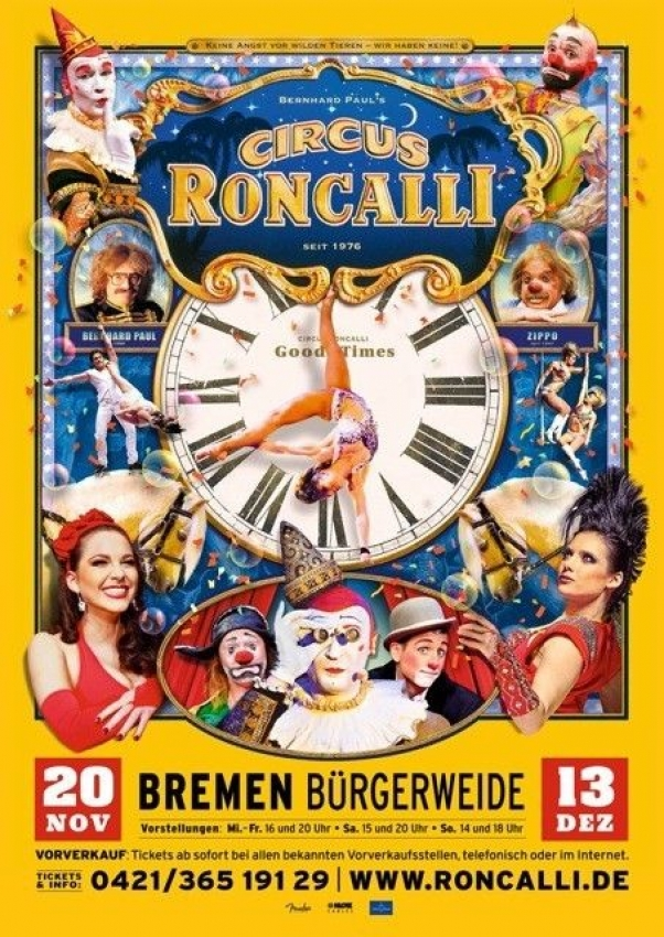 Roncalli Kommt Nach Bremen Aktuelles Vom Circus
