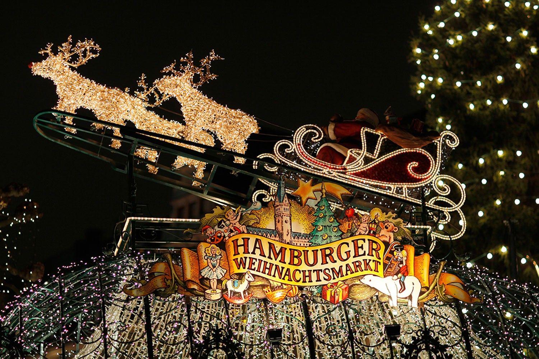 Hamburger Weihnachtsmarkt.Hamburger Weihnachtsmarkt Circus Roncalli Jubiläum